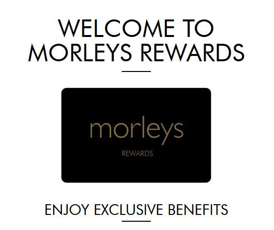 Morleys Exclusive Rewards card